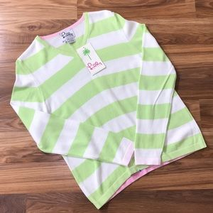 NWT Lilly Pulitzer Vanessa Striped V-Neck Sweater